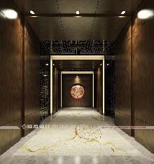 桐城天红酒店设计(四星级)-贵宾区电梯厅设计
